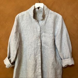 Eileen Fisher delicious handkerchief linen shirt